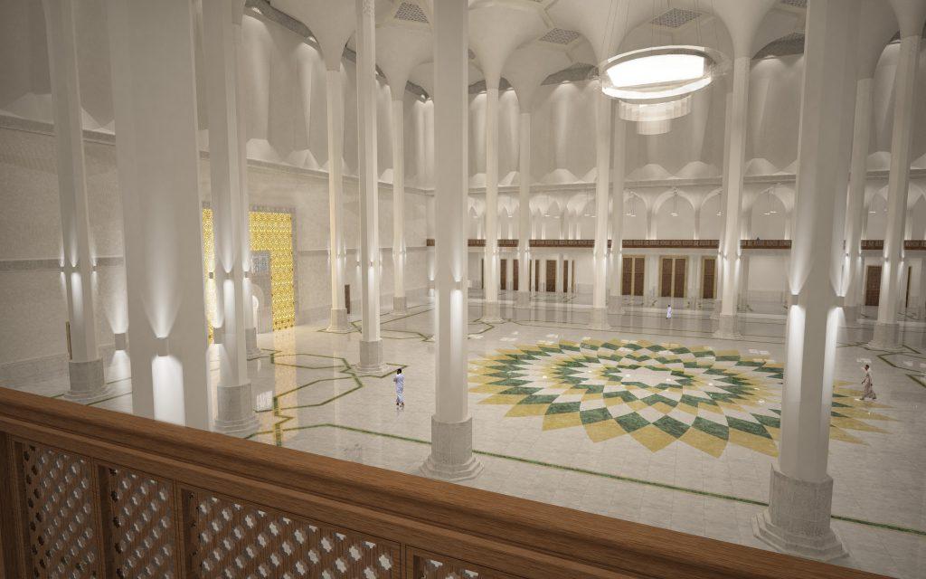 Grand Mosquee Djamaa El Djazair - Algier - Salle de priere - Render